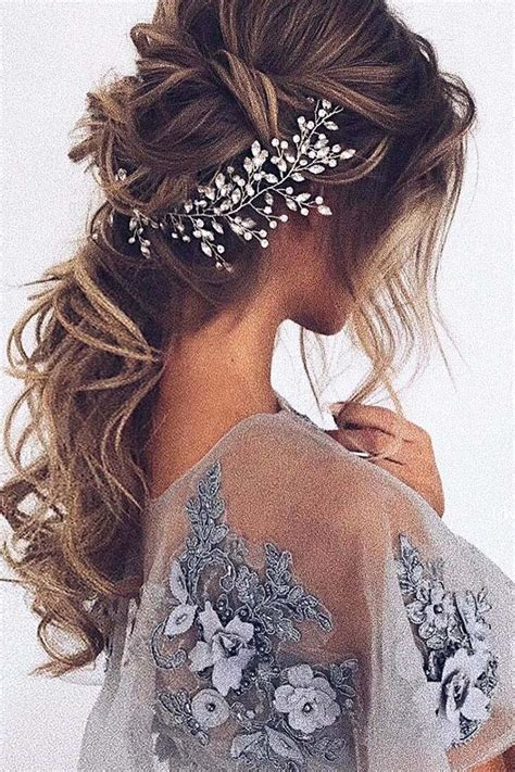 wedding hairstyles  long hair  ulyana aster