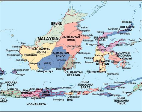 indonesia political map order   indonesia