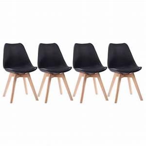 Chaises Scandinaves Noires : chaises style scandinave noires nora coussins lot de 4 ~ Teatrodelosmanantiales.com Idées de Décoration