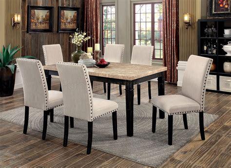 dodson cmt pc dinette set wfaux marble table top