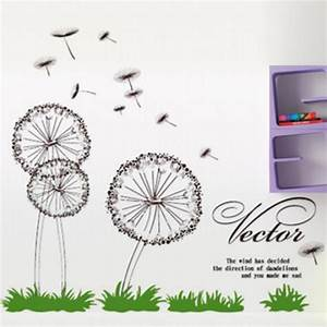 Dandelion wall sticker fly with the wind wall decals for What kind of paint to use on kitchen cabinets for dandelion wall art stickers