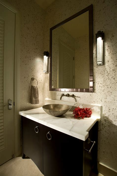 bathroom wall covering ideas wall coverings ideas powder room modern with calcutta marble bathroom mirror