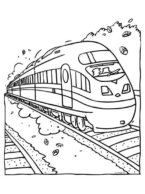 De Trein Kleurplaat by Kleurplaat Hogesnelheidstrein Treinen Kleurplaten Nl