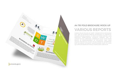 slides brochure template powerpoint a4 tri fold brochure mockup template premium professional powerpoint and keynote