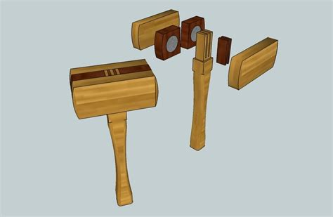 designed  mallet build  dead blow hammer   lethal weapon  steliart  lumberjocks
