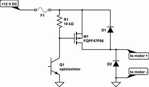 how to protect a p channel mosfet when driving a motor With driving nchannel mosfets with a microcontroller