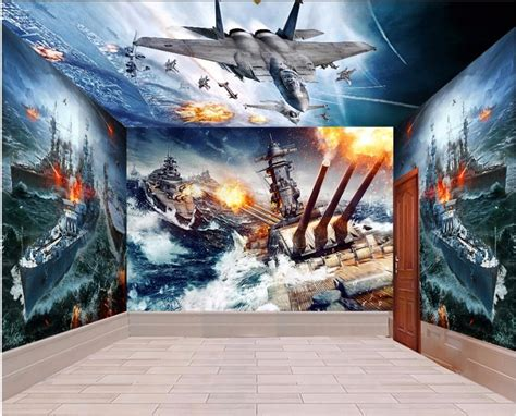 room wallpaper landscape custom mural pearl harbor war