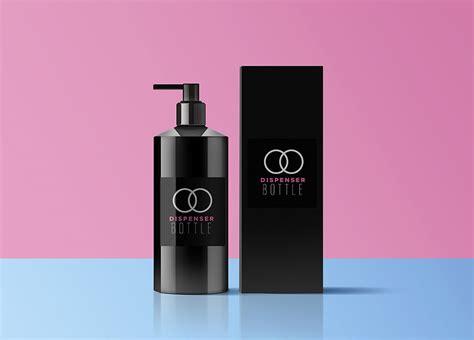 Free beautiful perfume bottle on stand mockup psd. Free Dispenser Bottle Mockup PSD | Mockuptree