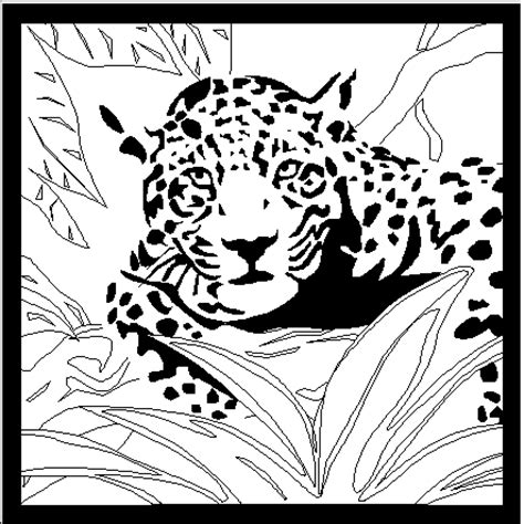 tiger im gestruepp ausmalbild malvorlage tiere