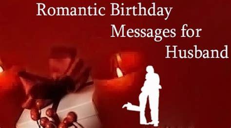 romantic birthday messages  husband