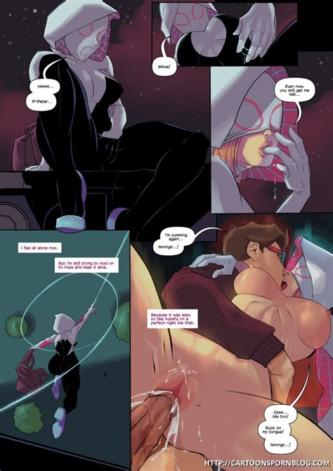 spidergwen porn parody peter still wants to fuck gwen stacy even after he knows about her secret