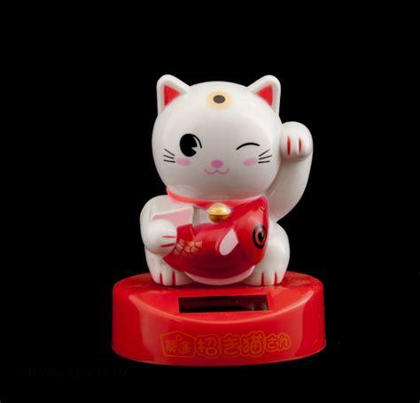 chat porte bonheur solaire chat japonais maneki neko chat porte bonheur manekineko