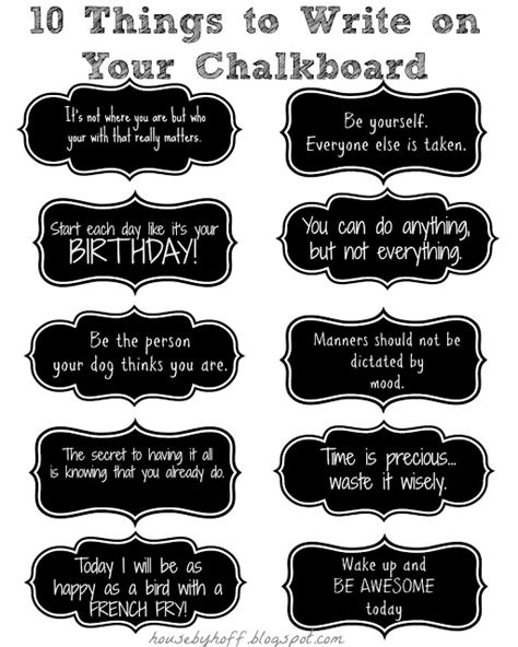 Things To Put On by Chalkboard Quotes Sayings Quotesgram