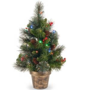 national tree pre lit 2 crestwood spruce small artificial christmas tree with silver bristle