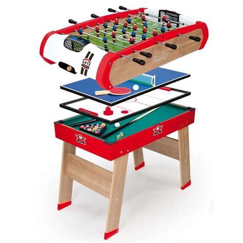 Smoby Table Multijeux Powerplay 4 En 1  Achat Vente