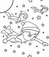 Elf Shelf Coloring Printable Sheet Sheets Elves Printables Colour Colouring Flying Outer Space Fox Shelves Dog Enjoy Magic Activities Getcoloringpages sketch template