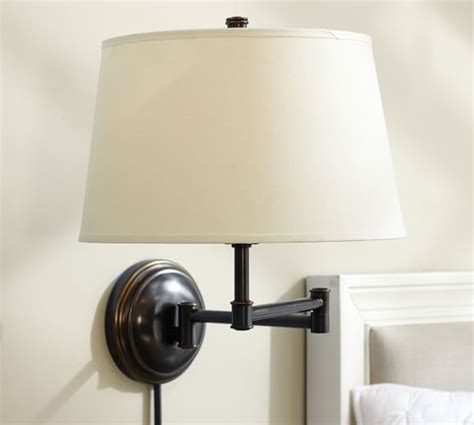plug in wall ls for living room chelsea swing arm sconce pottery barn