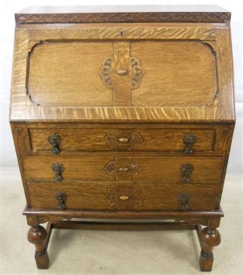 oak writing bureau uk jacobean style oak writing bureau 92024