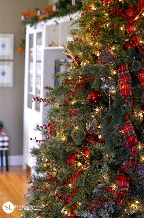 traditional red tartan plaid christmas tree stephanie