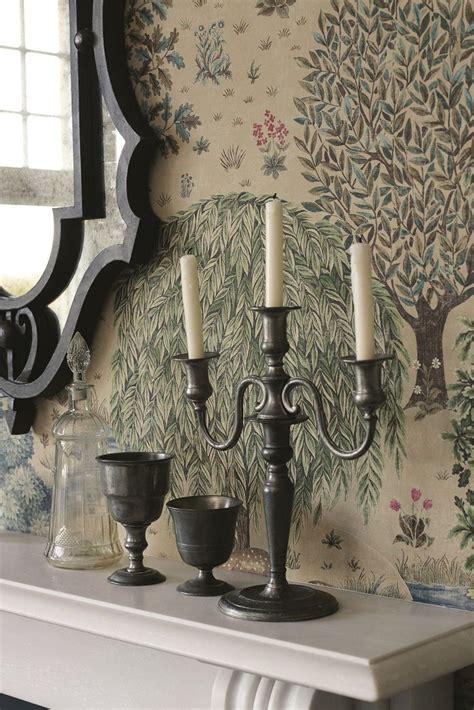 brook  morris linen wallpaper  william
