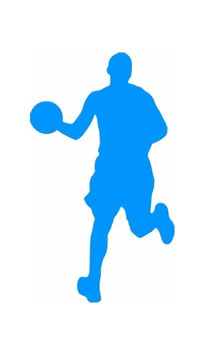 Basketball Svg Outline Player Silhouette Domain Spieler