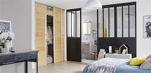 une separation de style loft pour la chambre leroy merlin With separation amovible pour chambre