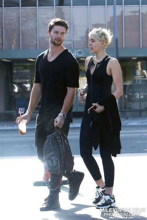 MILEY CYRUS and Patrick Schwarzenegger Out for Lunch in ...