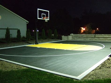 outdoor basketball court lighting during the night a night light is switched on in order to