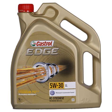 castrol 15669e edge motoröl titanium fst 5w 30 ll 5l castrol edge titanium fst 5w 30 ll 5 l preisvergleich guenstiger de