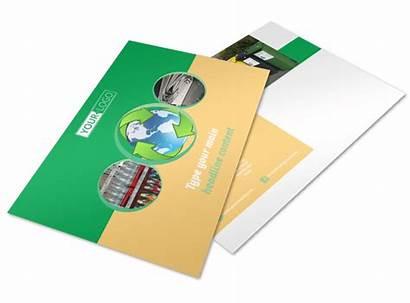 Recycling Postcard Template Flyer Templates Postcards Mycreativeshop