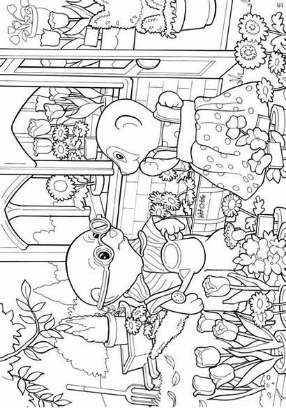 Sylvanian Families Coloring Pages Colouring Sheets Printable