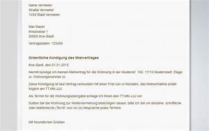 Kündigungsschreiben Wohnung Mieter : mietvertrag k ndigen muster vorlagen tipps ~ Lizthompson.info Haus und Dekorationen