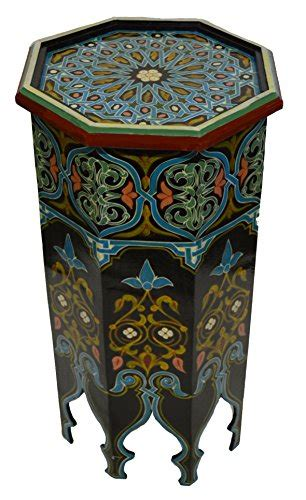 moroccan wood side  table corner coffee handmade hand