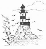 Lighthouse Coloring Pages Printable Adults Lighthouses Drawing Realistic Easy Pencil Cape Hatteras Clip North Carolina Getdrawings Stained Library Clipart Glass sketch template