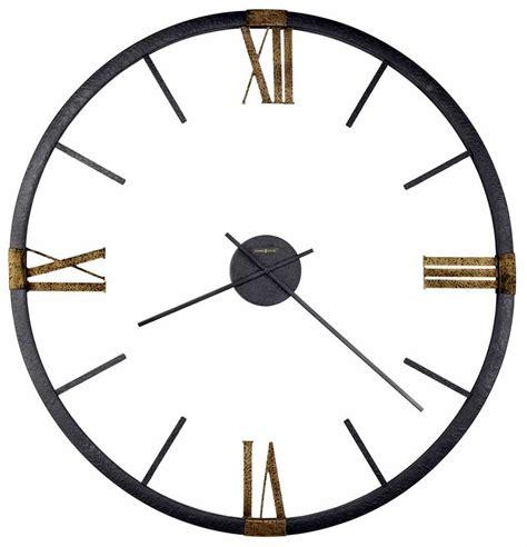 howard miller curio cabinet clock 625570 prospect park oversized metal frame antique gold