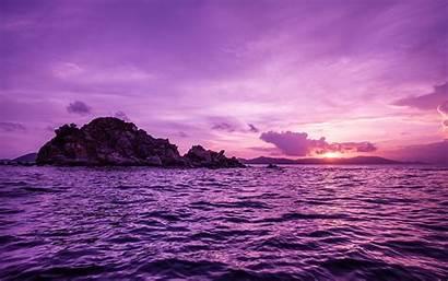 Sea Sunset Island Pelican Wallpapers Desktop Backgrounds