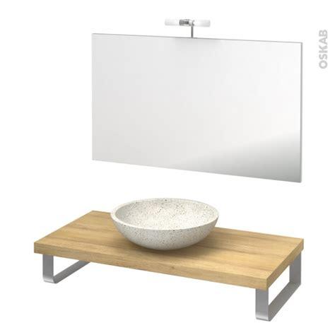 pack salle de bains pmr vasque 224 poser ricia blanc plan de toilette hosta miroir et 233 clairage