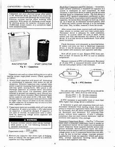 A Caution  Run Capacitor Start Capacitor  A Warning