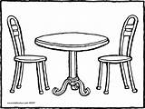 Table Chair Drawing Coloring Chairs Furniture Clipart Pages Round Colouring Colo Kiddicolour Clip Printable Transparent Colour Line Getcolorings Rectangle Library sketch template