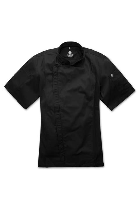 chef works springfield mens black zipper chef jacket black
