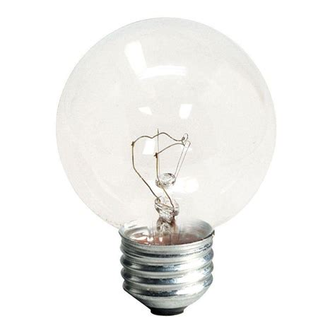 ge 25 watt incandescent g16 5 globe clear light bulb 2