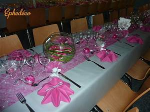 Deco Avec Du Gris : deco table mariage fushia blanc le mariage ~ Zukunftsfamilie.com Idées de Décoration