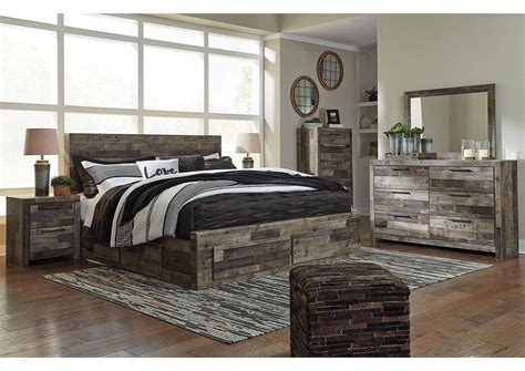 ashley derekson  king size storage bedroom set pcs