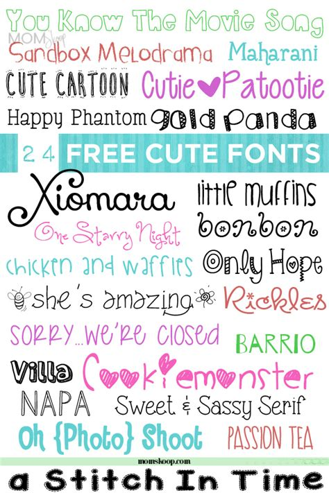 cute fonts momskoop