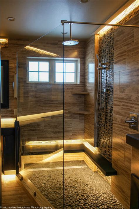 Modern Spa Like Master Bath Makover   Contemporary