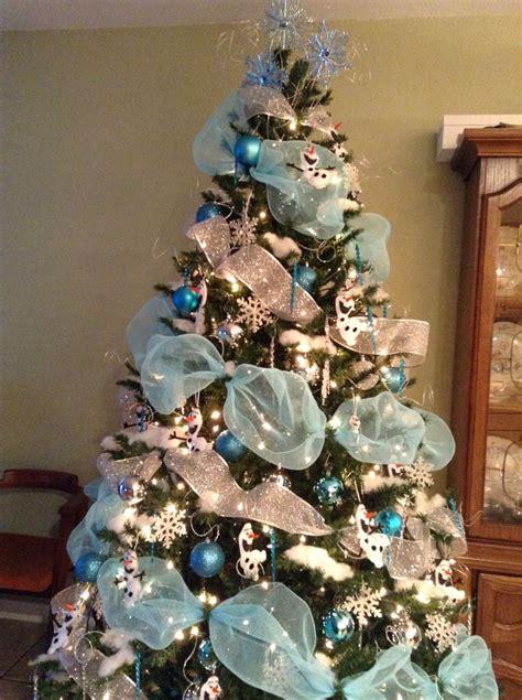 olaf christmas tree  holiday decor blue christmas