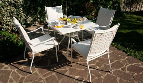 oliver four seater set with metal table garden furniture