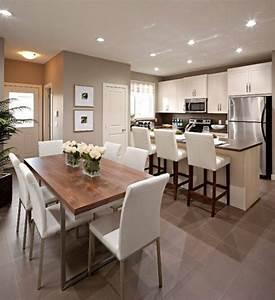 la cuisine ouverte sur la salle a manger 55 photos With idee deco cuisine avec salle a manger complete a vendre