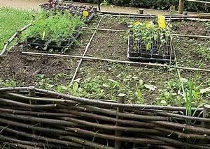 Construire Potager Surélevé : fabriquer un carr potager en plessis d 39 osier potager carr potager jardins et potager ~ Melissatoandfro.com Idées de Décoration