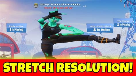 finally  stretched resolution  fortnite